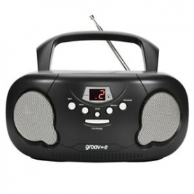 "GROOVE ""BOOMBOX "" PORTABLE CD PLAYER AND RADIO - GV-PS733-BK"