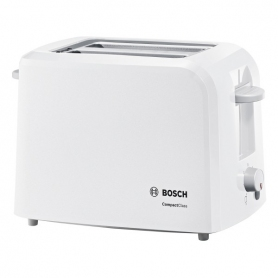 Bosch TAT3A011GB Village Collection Toaster, Two Slice -White